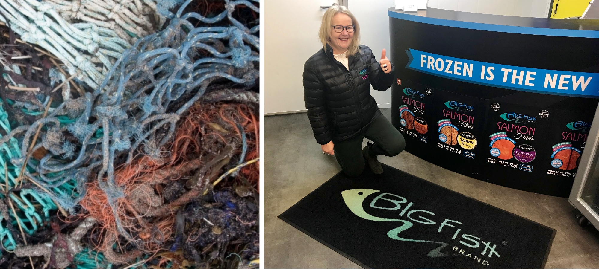 Our quality manager, Ann, with one of the new mats