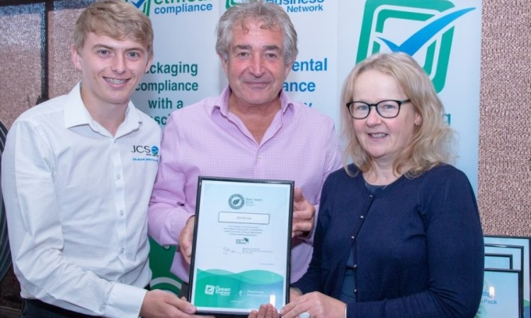 Our QA team, Ann and Steven, with respected environmental campaigner, Tony Juniper (centre)
