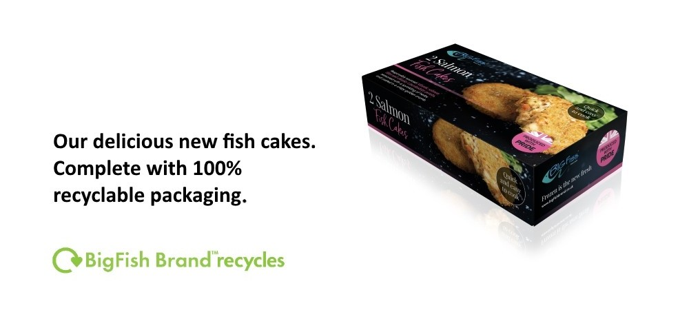 new fish cakes with recyclable packaging