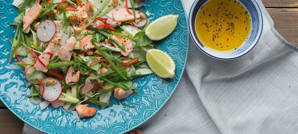 Salmon Fillets Marinated with Eastern Thai Spices