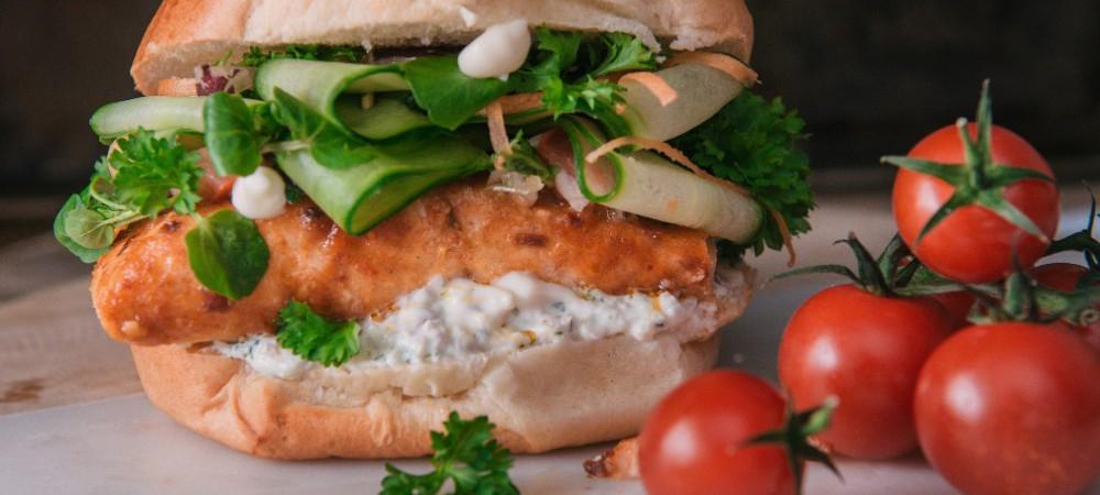 Piri Piri Salmon Burger