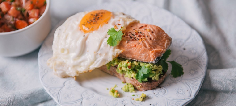 Sea Trout with avocado on toast