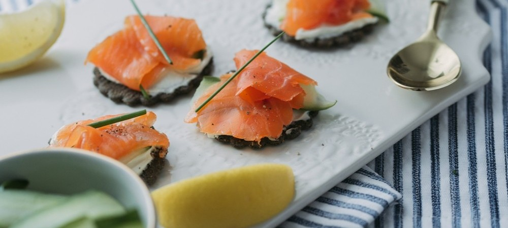 Stylish Canapés with Smoked Sea Trout