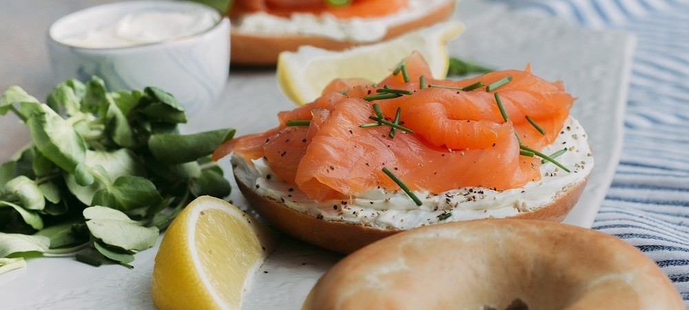 BigFish Smoked Salmon with Cream Cheese and bagel