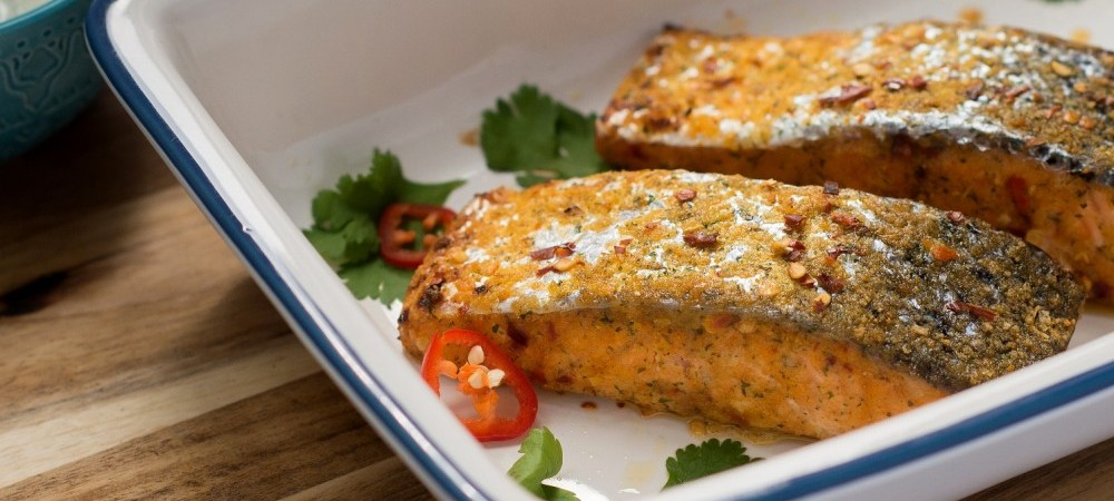 Salmon Fillets Marinated with Sweet Chilli